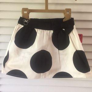 NWT Disney Minnie Mouse Polka Dot Skirt size 3T